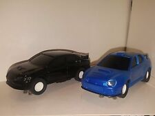 Slot Car Mitsubishi Lancer & Subaru Impreza 1:32 Working Headlights 2013 Tested