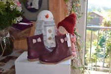 chaussure neuve cyrillus  31  bottine noeud liberty tout cuir bordeaux