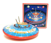 SCHYLLING COLLECTOR SERIES LE 1998 SPACE SAUCER Z-1 FRICTION POWERED TIN TOY