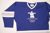 Blue 2010 Winter Olympics Vancouver Team Canada Mens Hockey Jersey L/XL