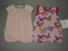 Burt/'s Bees Baby Girl Dress /& Bloomers Set ~ Pink /& White ~ Butterflies ~