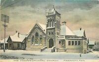 Congregational Church Prescott Arizona hand colored 1911 Postcard 7330