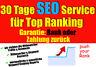 Suchmaschinenoptimierung mit Garantie SEO Service  Rankings boosten Mehr Traffic