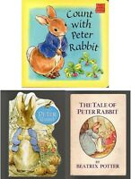 Lot of 3 Peter Rabbit Books The Tale of Beatrix Potter Count With Board Book