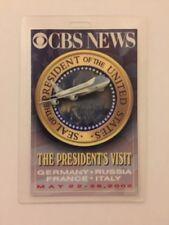 2002 President George W. Bush CBS NEWS Press Pass Germany Russia France Italy