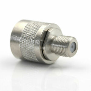 N-male plug to Type-F female RF coaxial adapter jack barrel connector converter