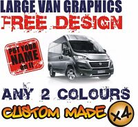 LARGE VAN CUSTOM VEHICLE GRAPHICS SIGN WRITING KIT DECALS STICKERS LETTERING
