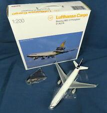 HERPA 551540 LUFTHANSA CARGO PLANE 1:200 BOEING MD-11 FREIGHTER D-ALCA IN BOX