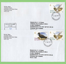 Tristan Da Cunha 2007 Two Covers with Bird stamps to Inspector of Police, one wi