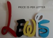 DISNEY STYLE personalised wooden name plaques/ door sign/PRICE IS PER LETTER