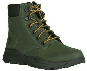 """Boys Childrens Timberland Leather 6"""" 6 Inch Walking Outdoor Boots Shoes UK 12.5"""