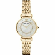 New Emporio Armani AR1907 Ladies Watch Classic Gold Mother of Pearl Dial Watch