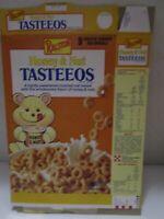 Vintage Ralston Honey & Nut TASTEEOS 1989 Cereal Box Empty ~USED~