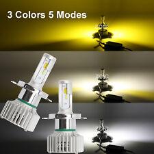 H7 LED Smart Car Headlight 3 Colors WHITE/YELLOW 160W 16000LM Hi/Lo Beam Bulbs