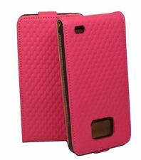Diamond Flip Tasche für Samsung i9100 Galaxy S2 S II in pink Schutzhülle Etui