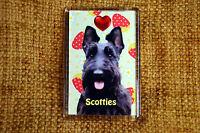 Scottie Scottish Terrier Dog Fridge Magnet 77x51mm Birthday Mothers Day Gift