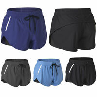US Women Running Shorts Fitness Gym Sports Jogging Workout Yoga Hot Pants Casual