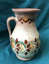 Vintage Ukrainian Hand-painted Pitcher Kosiv Ceramics (№1100)