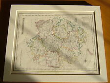 ANTIQUE HAND COLOURED MAP OF HEREFORDSHIRE FROM LEWIS' TOPOGRAPHICAL DICTIONARY