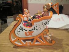 Vintage Figurine Tennessee Vol Sleigh With Gifts By The Danbury Mint Excellent