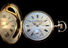 Elgin 17 jewel 16s 3 Finger Bridge solid 14K Gold Hunter Pocket watch Near Mint
