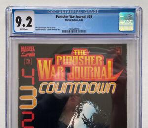 Marvel Comics Punisher War Journal #79 CGC 9.2