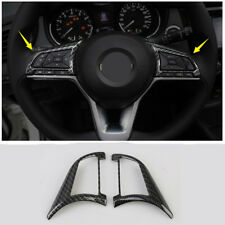 Carbon fiber look Water Cup Holder Cover Trim For Nissan Rogue X-Trail 2017 2018