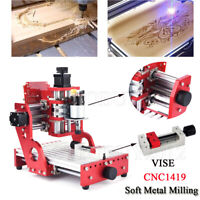 VISE Laser Metal Engraving Carving Machine 1419 CNC Router Milling Cutting KIT