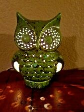 MID CENTURY CERAMIC OWL LAMP LIGHT