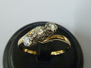 Ladies Stunning  18ct Gold 1.03ct Three Stone Diamond Ring Size Z+5 +Appraisal