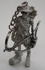 Rubber Keychain Keyring Skeleton Bow & Arrow Pirate Skull Harley Goth