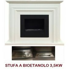 STUFA CAMINETTO A BIOETANOLO NUOVO DESIGN MOD.A180 3,5 KW COLORE BIANCO CAMINO
