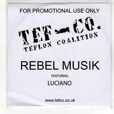 (FO504) Teflon Coalition, Rebel Musik ft Luciano - 2006 DJ CD