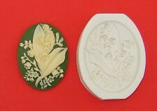 Cameo LILY of the VALLEY Flowers Polymer Clay Push Mold 40x30mm