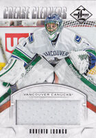 12-13 Limited Roberto Luongo /99 Jersey Crease Cleaners Canucks 2012