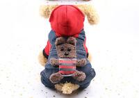 Warm Small Pet Cat Puppy Dog Clothes Hoodie Coat Winter Apparel Cartoon Costume
