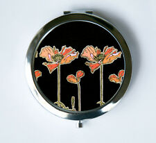 Art Nouveau Poppies Flowers Compact Mirror Pocket Mirror mucha
