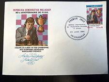 MADAGASCAR  718   PREMIER JOUR FDC    FIDE, ECHECS ,COUPE       30F     1984