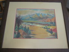 Original Pastel Landscape With Frame Signed By Robert Pharey '59