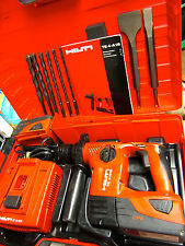 Hilti TE4-A18 CPC CORDLESS HAMMER DRILL, PREOWNED , 230 VOLTS , BITS & CHISELS