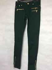 Denim & Co ~ verde jeans skinny, Cotone Stretch-Taglia 8