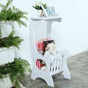 Beistelltisch Regal Zeitungsständer Couchtisch Blumenständer Tisch Weiß!!