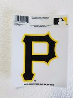 """Pittsburgh Pirates 3"""" x 4"""" Small Static Cling P Logo Truck Car Auto Window Decal"""