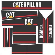 Caterpillar D6M XL Dozer Decal / Adhesive / Sticker Complete Set