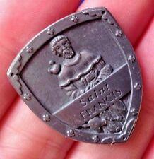 Rare St Francis Pocket Shield Token Saint Medal Protection Patron St of Animals