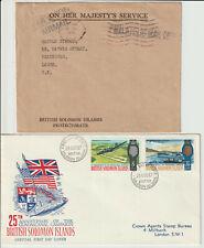 BRITISH SOLOMON ISLANDS - PAIR OF COVERS
