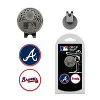MLB Atlanta Braves Golf Cap Clip and 2 Ball Markers Set Hat Enamel