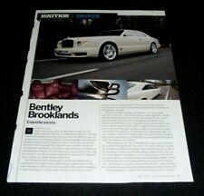 BENTLEY BROOKLANDS-2008 ARTICLE - EXQUISITE EXCESS