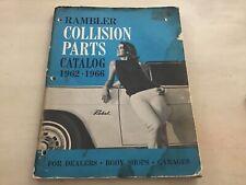 1962-1966 Amc Rambler Collision illustrated parts catalog book manual Ambassador