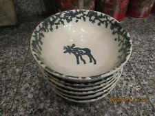 "6 Tienshan ~ Cereal Soup Bowl 6 1/2"" ~ Folk Art ~ Moose Country"